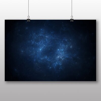 Big Box Art Nebula Space Graphic Art Wrapped on Canvas