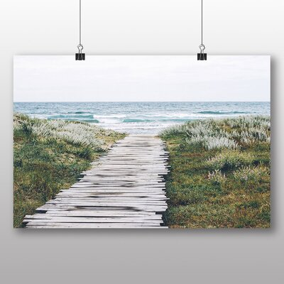 Big Box Art Path to the Ocean Photographic Print Wrapped on Canvas