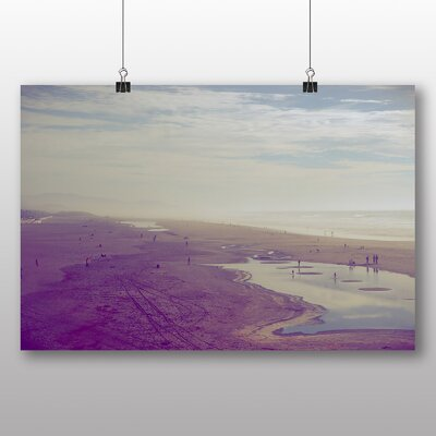 Big Box Art Purple Beach Photographic Print Wrapped on Canvas