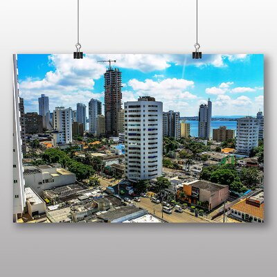 Big Box Art New Town Colombia Photographic Print Wrapped on Canvas