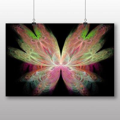 Big Box Art Mixed Colour Fractal Abstract Graphic Art