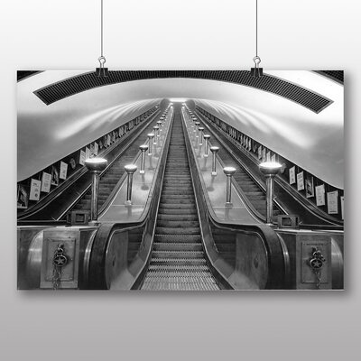 Big Box Art London Underground Photographic Print Wrapped on Canvas