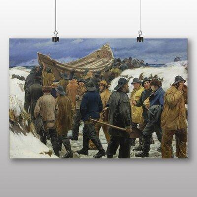 Big Box Art 'The Fishermen' by Michael Ancher Graphic Art