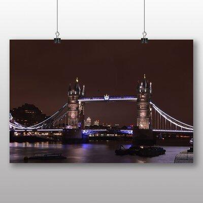 Big Box Art London Bridge at Night Photographic Print