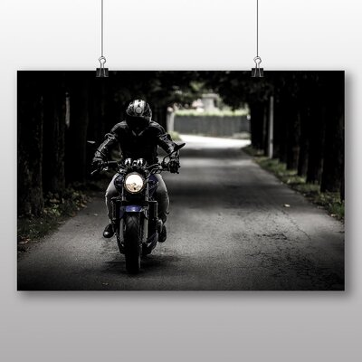 Big Box Art Motorcycle Motorbike No.3 Photographic Print Wrapped on Canvas
