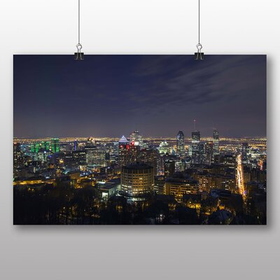 Big Box Art Montreal Canada Skyline No.3 Photographic Print Wrapped on Canvas