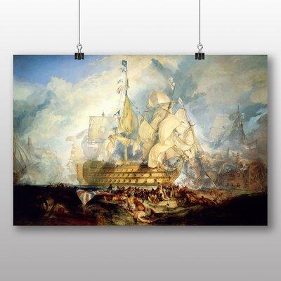 Big Box Art 'The Battle of Trafalgar' by Joseph Mallord William Turner Art Print