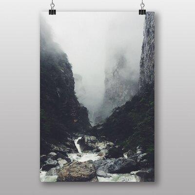 Big Box Art 'Misty Rocks and Stream' Photographic Print