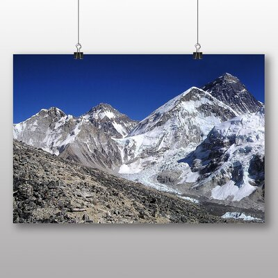 Big Box Art Mount Everest Mountain No.3 Photographic Print Wrapped on Canvas