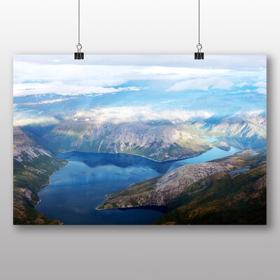 Big Box Art Norway Landscape No.2 Photographic Print Wrapped on Canvas
