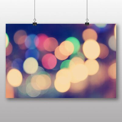 Big Box Art 'Multi Coloured Blurred Fairy Lights Abstract No.6' Graphic Art