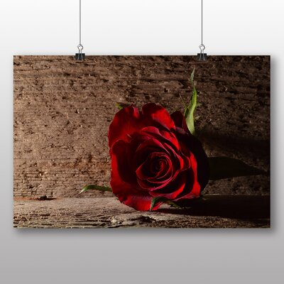 Big Box Art Red Rose Flower No.9 Photographic Print