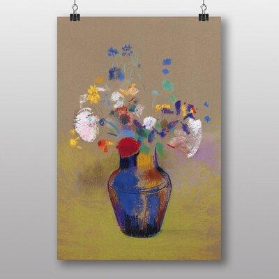 "Big Box Art ""Flowers in a Vase"" by Odilon Redon Art Print"