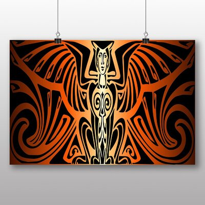 Big Box Art Phoenix Flames No.1 Graphic Art Wrapped on Canvas