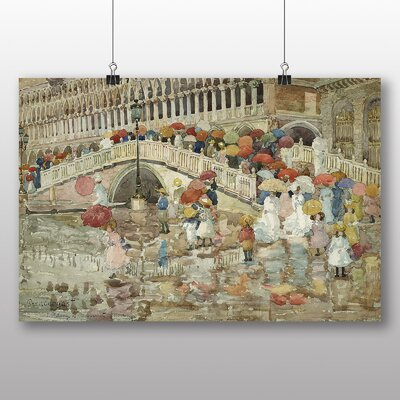 Big Box Art 'Umbrellas in the Rain' by Maurice Prendergast Art Print