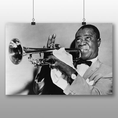Big Box Art Louis Armstrong Photographic Print Wrapped on Canvas