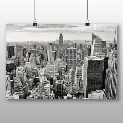 Big Box Art Manhattan New York City Skyline USA No.1 Photographic Print Wrapped on Canvas