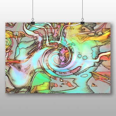 Big Box Art Abstract No.6 Graphic Art Wrapped on Canvas
