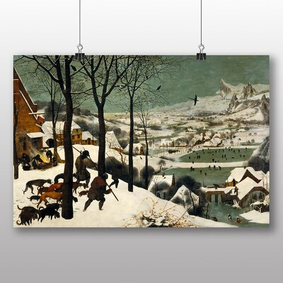 Big Box Art 'The Elder Hunters in the Snow' by Pieter Bruegel Art Print