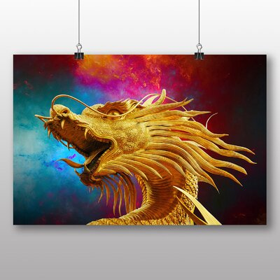 Big Box Art Oriental Dragon Graphic Art Wrapped on Canvas