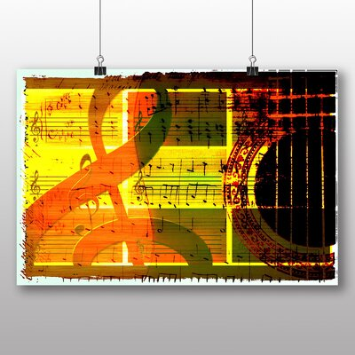 Big Box Art Music Sheet No.1 Graphic Art Wrapped on Canvas