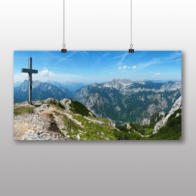Big Box Art Mountain and Cross Photographic Print on Canvas