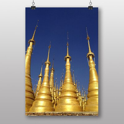 Big Box Art Pagoda Burma Photographic Print Wrapped on Canvas