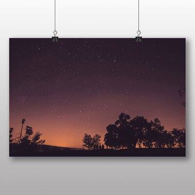 Big Box Art Night Sky Photographic Print Wrapped on Canvas