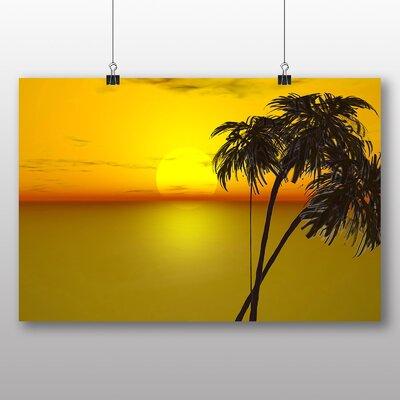 Big Box Art Palm Tree Tropical Beach Paradise No.1 Photographic Print Wrapped on Canvas