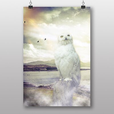 Big Box Art Owl Graphic Art Wrapped on Canvas