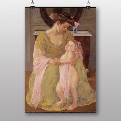 "Big Box Art ""Mother with Child, Rose Scarf"" by Mary Cassatt Art Print"