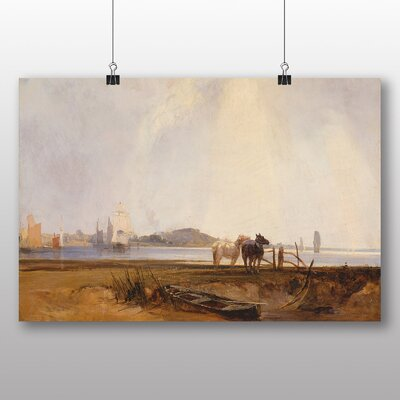 Big Box Art 'Landscape near Quilleboeuf' by Richard Bonington Art Print