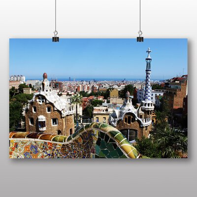Big Box Art Parc Guell Gaudi Barcelona Spain Photographic Print Wrapped on Canvas