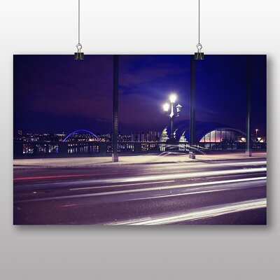 Big Box Art Newcastle at Night Photographic Print on Canvas