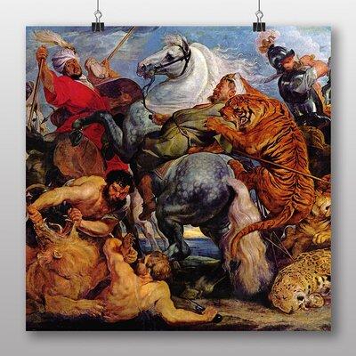 Big Box Art 'Tiger Hunt' by Peter Paul Rubens Art Print
