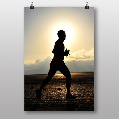 Big Box Art Runner Running Photographic Print Wrapped on Canvas