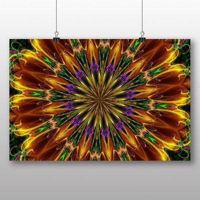 Big Box Art Mixed Colour Fractal Abstract No.8 Graphic Art