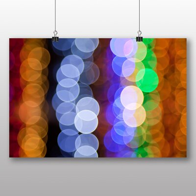 Big Box Art Coloured Blurred Fairy Lights Abstract No.1 Graphic Art