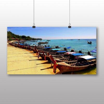 Big Box Art Koh Phi Phi Thailand Boats Photographic Print on Canvas