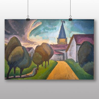 Big Box Art 'The Entrance to the Village' by Roger de la Fresnaye Art Print