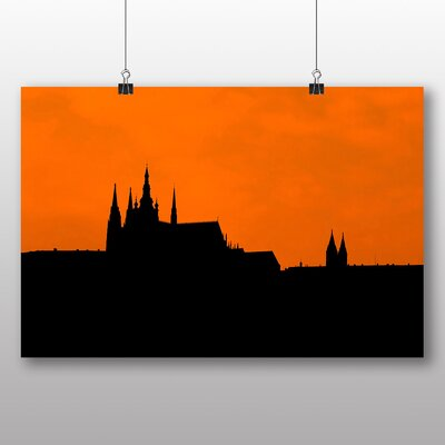 Big Box Art Prague Castle Sunset Graphic Art