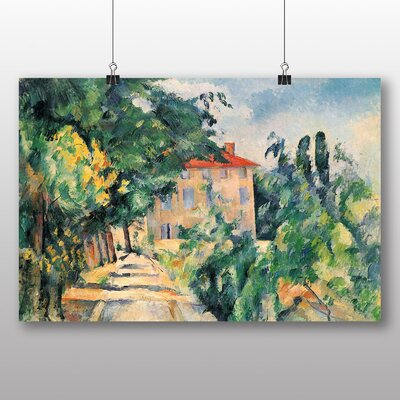 Big Box Art 'House with Red Roof' by Paul Cezanne Art Print