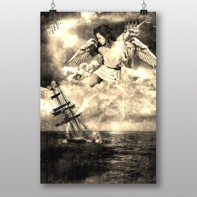 Big Box Art Sailing Ship and Angel Graphic Art