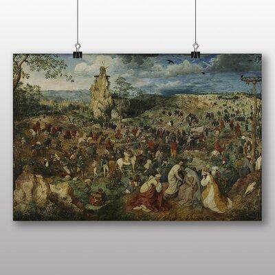Big Box Art 'The Elder Christ Carrying the Cross' by Pieter Bruegel Art Print