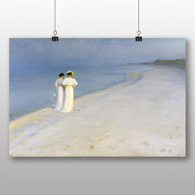 Big Box Art 'Anna Walking on the Beach' by Michael Ancher Art Print
