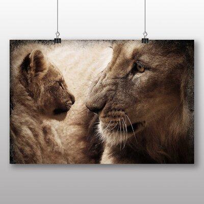 Big Box Art Lion Cub Photographic Print on Canvas