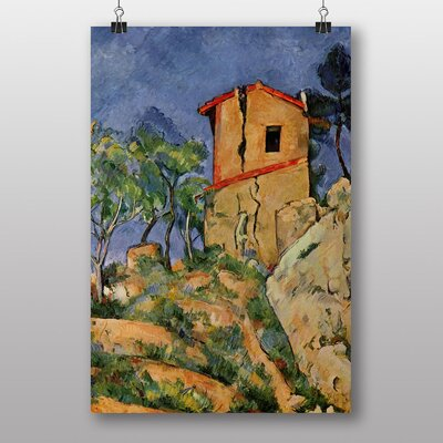 "Big Box Art ""The House with Cracked Walls"" by Paul Cezanne Art Print"
