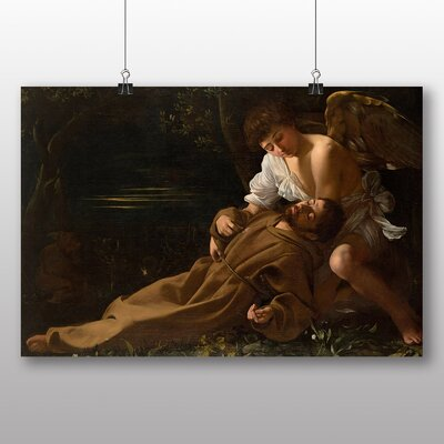 Big Box Art St Francis of Assisi in Ecstacy' by Michelangelo Caravaggio Art Print
