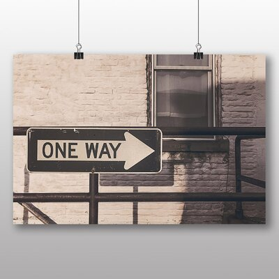 Big Box Art One Way Street Sign Photographic Print Wrapped on Canvas