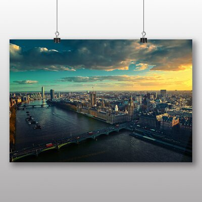 Big Box Art London City Skyline No.2 Photographic Print Wrapped on Canvas
